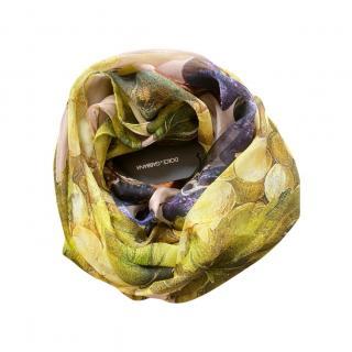 Dolce & Gabbana Silk Grapes Print Scarf