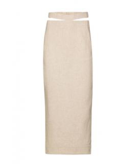 Jacquemus La Jupe Valerie Sand Pencil Skirt