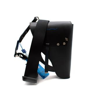Ader Error Black Leather Structured Gun Bag