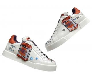 Dolce & Gabbana handpainted Embellished Sneakers