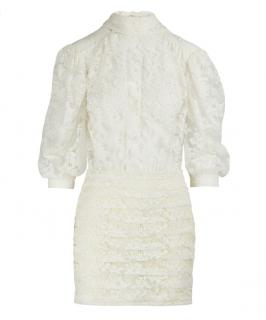Magda Butrym Cream Lace Labutes Mini Dress