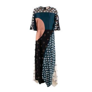 Roksanda Tricolour Beaded Organza Panelled Gown