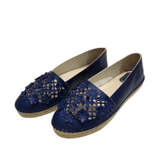 Dior Blue Lasercut Espadrilles
