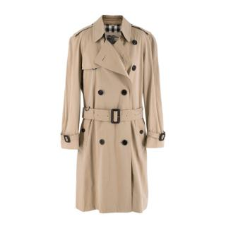 Burberry Beige Double-Breasted Belted Trench Coat