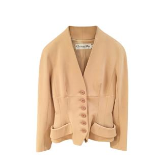Christian Dior Beige Tailored Fitted Jacket