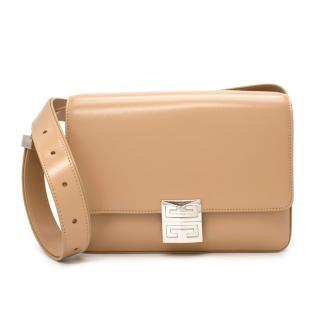 Givenchy 4G Box Beige Leather Shoulder Bag