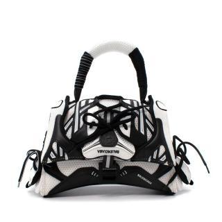 Balenciaga Sneakerhead Small Mesh & Leather Hourglass Bag