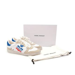 Isabel Marant Bulian Cream Leather & Suede Trainers