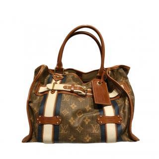 Louis Vuitton Leather Strap Monogram Tote Bag
