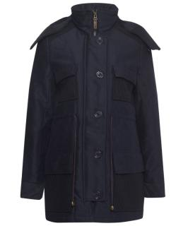 Session Navy/Black Fleece Lined Hooded Parka