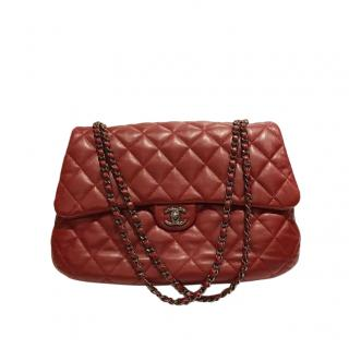 Chanel Red Quilted Leather Shoulder Bag