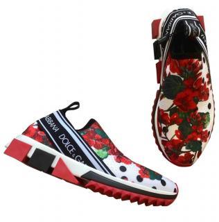 Dolce & Gabbana Geranium Print Sneakers