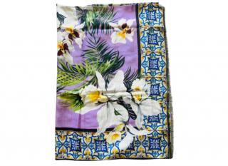 Dolce & Gabbana Tropical Majolica Print Cashmere Pareo Scarf
