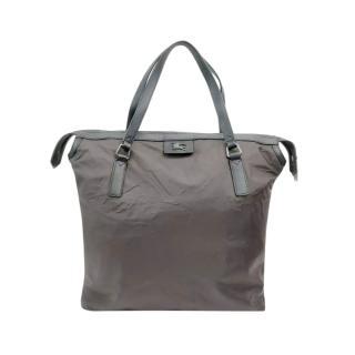 Burberry Brown Nylon Tote Bag
