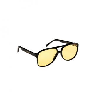 Celine by Phoebe Philo Black & Yellow Aviator Sunglasses