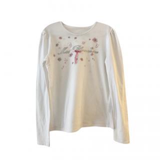 Blumarine Girls Embellished LS Top