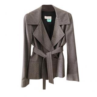 Max Mara Belted Wool Blend Jacket
