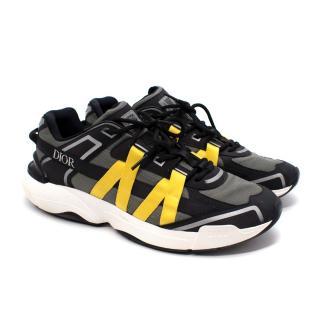 Dior B4 Runtek Khaki Ripstop Sneakers