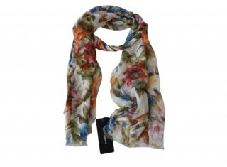 Dolce & Gabbana Floral Print Chiffon Scarf
