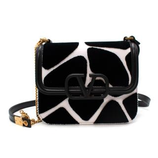 Valentino Small V-Sling Giraffe Print Shoulder Bag