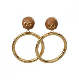 Dolce & Gabbana Hoop Drop Clip-On Earrings