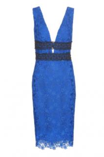 DVF Neptune Blue Lace Viera Dress