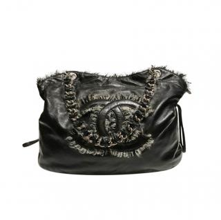 Chanel Leather & Tweed Tote Bag