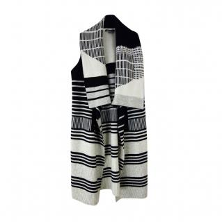 Vince Contrast Cashmere & Wool Draped Sleeveless Vest