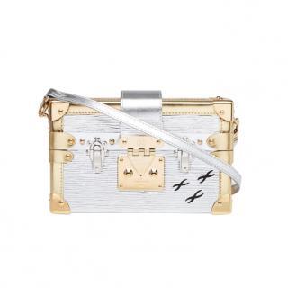 Louis Vuitton Metallic Epi Leather Petite Malle Crossbody Bag