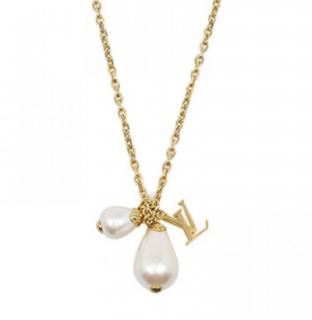 Louis Vuitton Damier Faux Pearl Necklace
