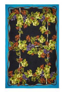 Dolce & Gabbana Cashmere Blend Grape Print Scarf