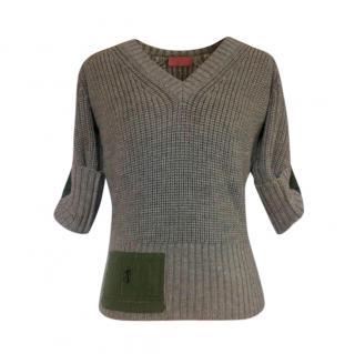 Pringle merino wool chunky knit short sleeve jumper