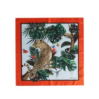 Dolce & Gabbana Tropical Jungle Print Silk Scarf