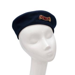 Ruslan Baginskiy Warcore Navy Cotton Twill Embroidered Beret
