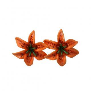 Dolce & Gabbana Orange Lily Clip-On Earrings