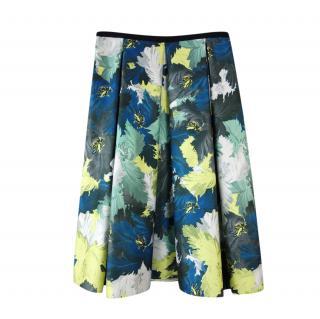 Erdem Floral Print Box Pleat Ina Skirt