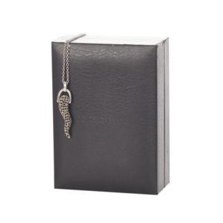 Dolce & Gabbana Crystal Embellished Horn Pendant Necklace