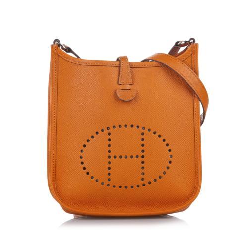 Hermes Orange Epsom Leather Evelyne I TPM