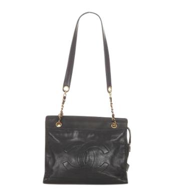 Chanel CC Lambskin Leather Shoulder Bag