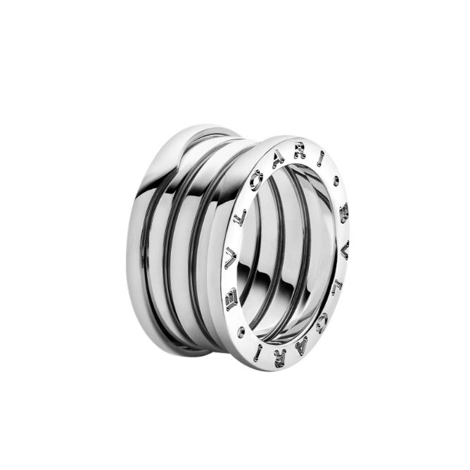 Bvlgari 18kt White Gold B-Zero1 Ring