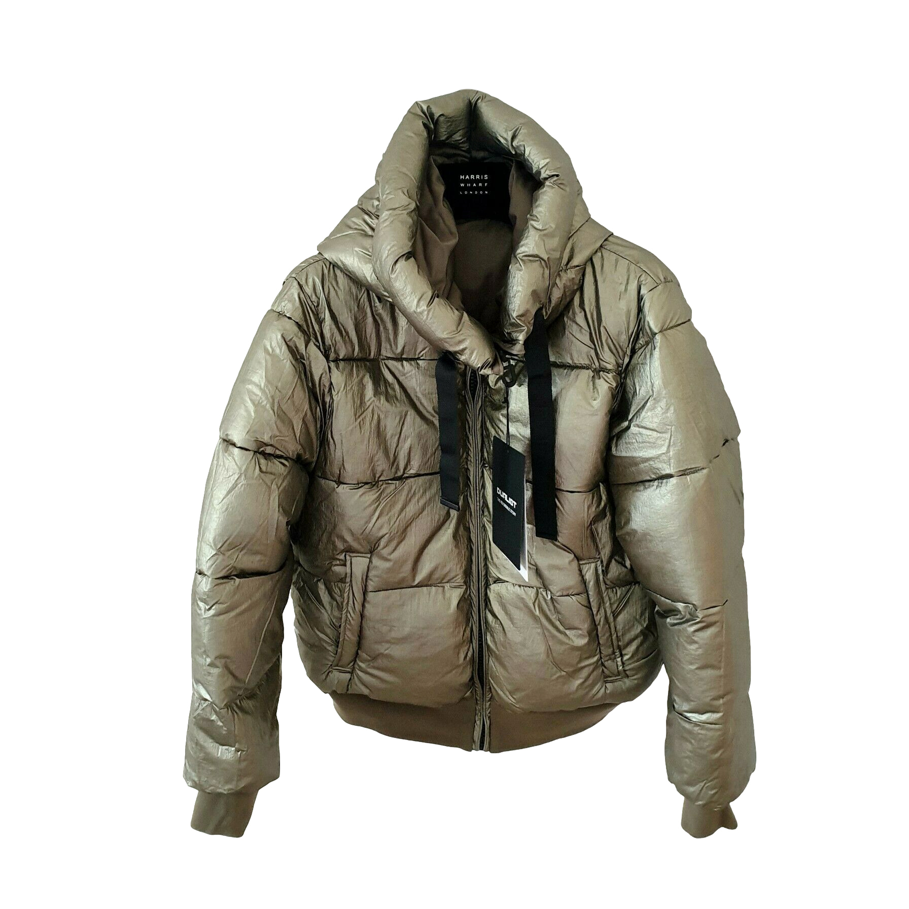 Dualist Reversible Khaki Hooded Puffer Jacket
