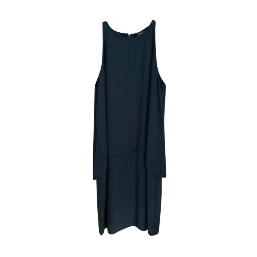 Theory Black Sleeveless Midi Dress