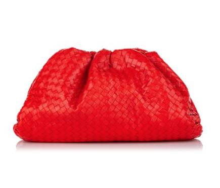 Bottega Veneta Intrecciato Leather Red The Pouch