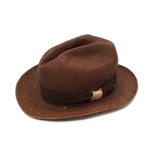 Nick Fouquet Tabbacco Woven Raffia Fedora Hat