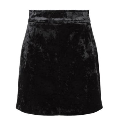 Sandro Black Marylou Velvet Mini Skirt