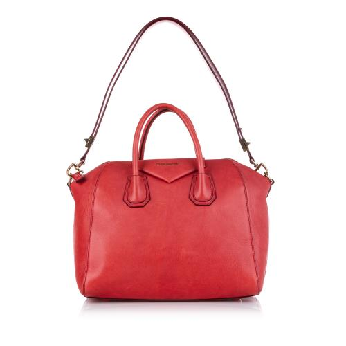 Givenchy Red Leather Antigona Leather Satchel