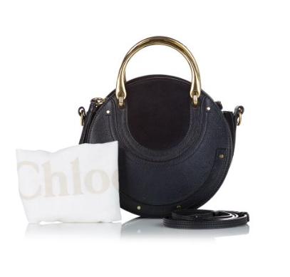 Chloe Black Leather & Suede Pixie Top handle Bag