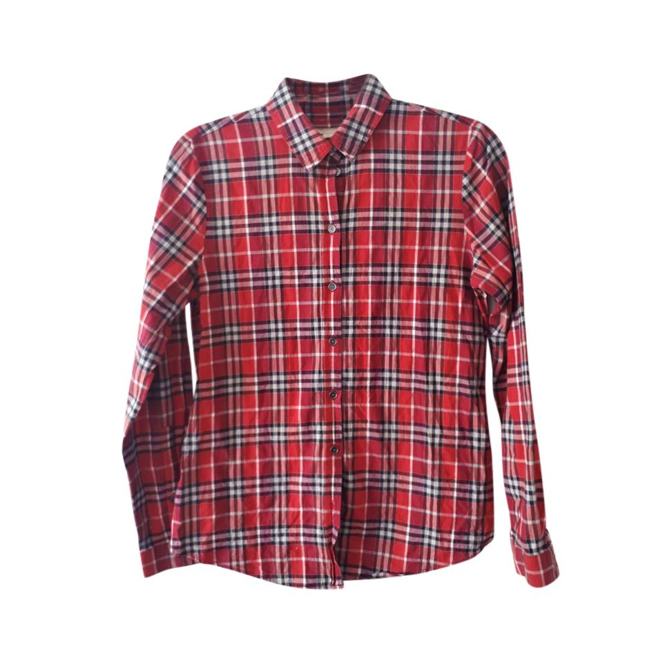 Burberry Brit Plaid Red Shirt