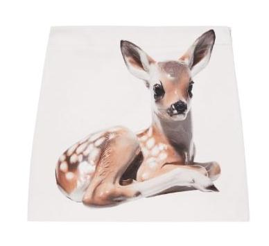 Burberry Cream Deer Print Mini Skirt