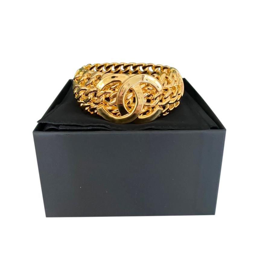 Chanel Gold Tone CC Chunky Chain Bracelet